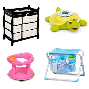 Bathing and Changing Baby Items