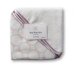 SwaddleDesigns Organic Cotton Baby Washcloths, Mod Circles, Set of 2