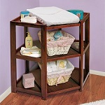 Corner Changing Table Cherry