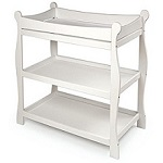 Badger Basket Sleigh Style White Changing Table