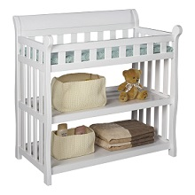 Delta Children Eclipse Changing Table With Shelves Available In White Black Cherry Dark And Espresso
