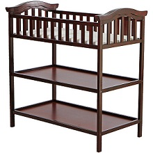 Dream On Me Jessica Modern Baby Changing Table In Cherry Finish.