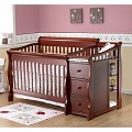 Sorelle Tuscany 4-in-1 Convertible Changing Table and Crib Combo