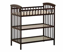 Badger Basket Corner Changing Table With Hamper, Espresso